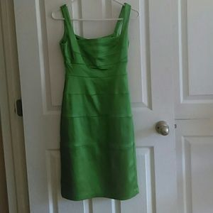 Green party dress.